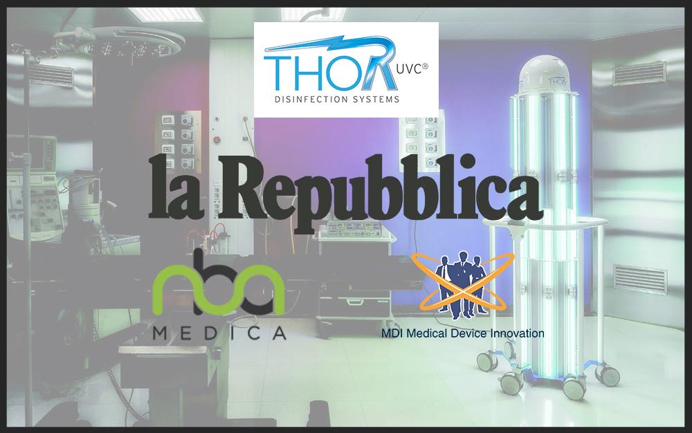 thor uvc sanificazione locali ospedalieri 2020